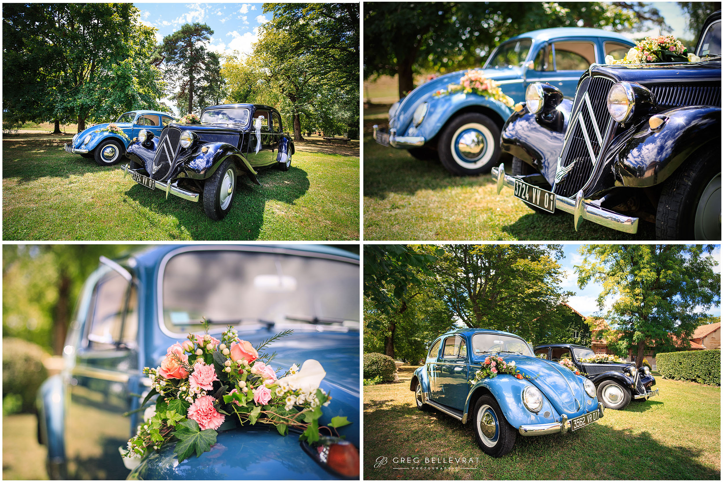 idée voiture mariage - Duo coccinelle - Traction