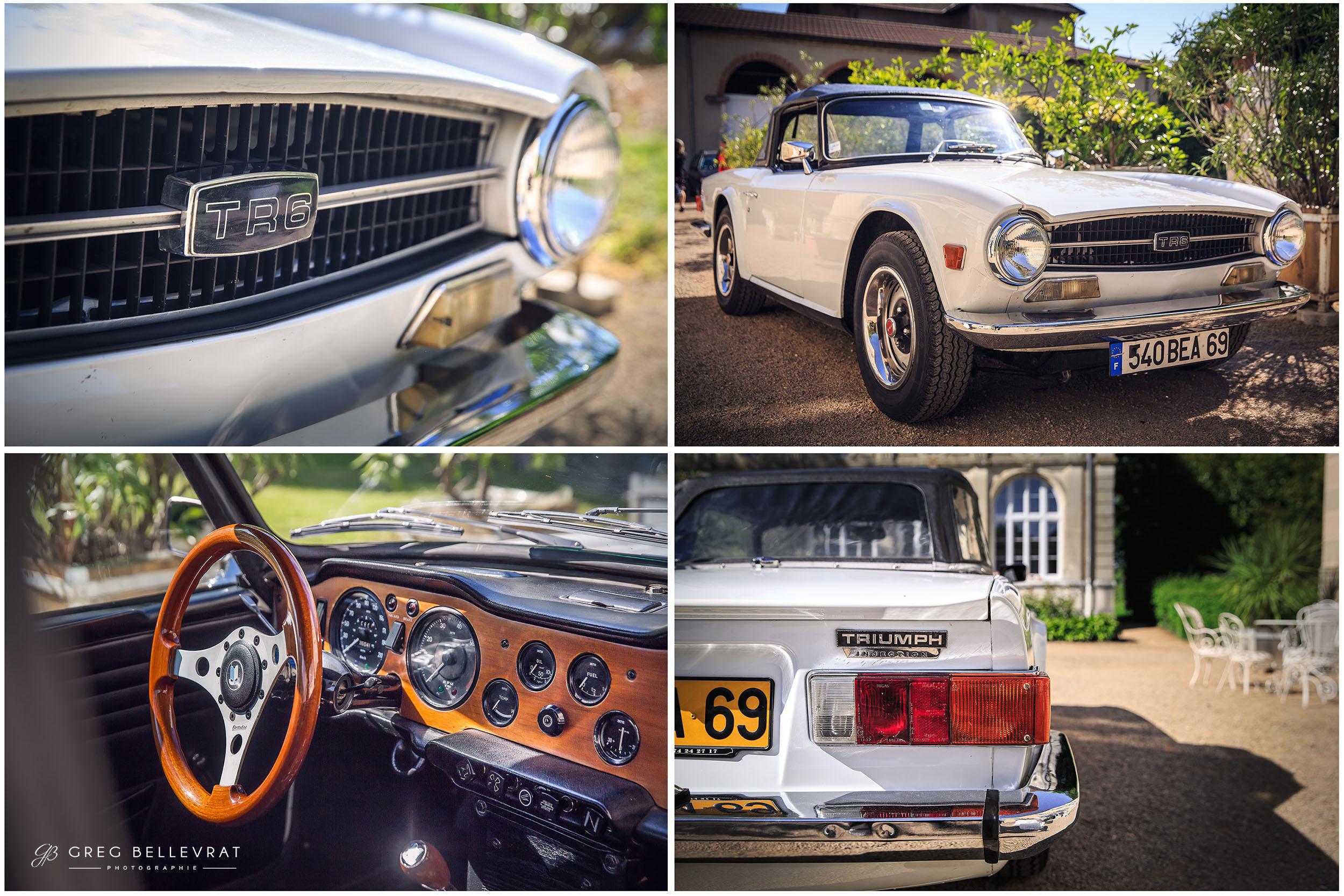 idée voiture mariage - Triumph TR 6